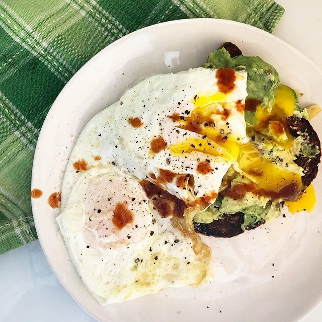 It's not eggggscellent if it's not running 🤣🤣. Sorry not sorry. Runny eggs and avocado toast make all Monday's better. How do you turn that Monday frown upside down?! . Egg tip - for perfectly delicious runny eggs I don't flip the egg until it's off the heat. That way the heat from the pan cooks it just slightly but not enough to lose that beautiful yolk 🍳