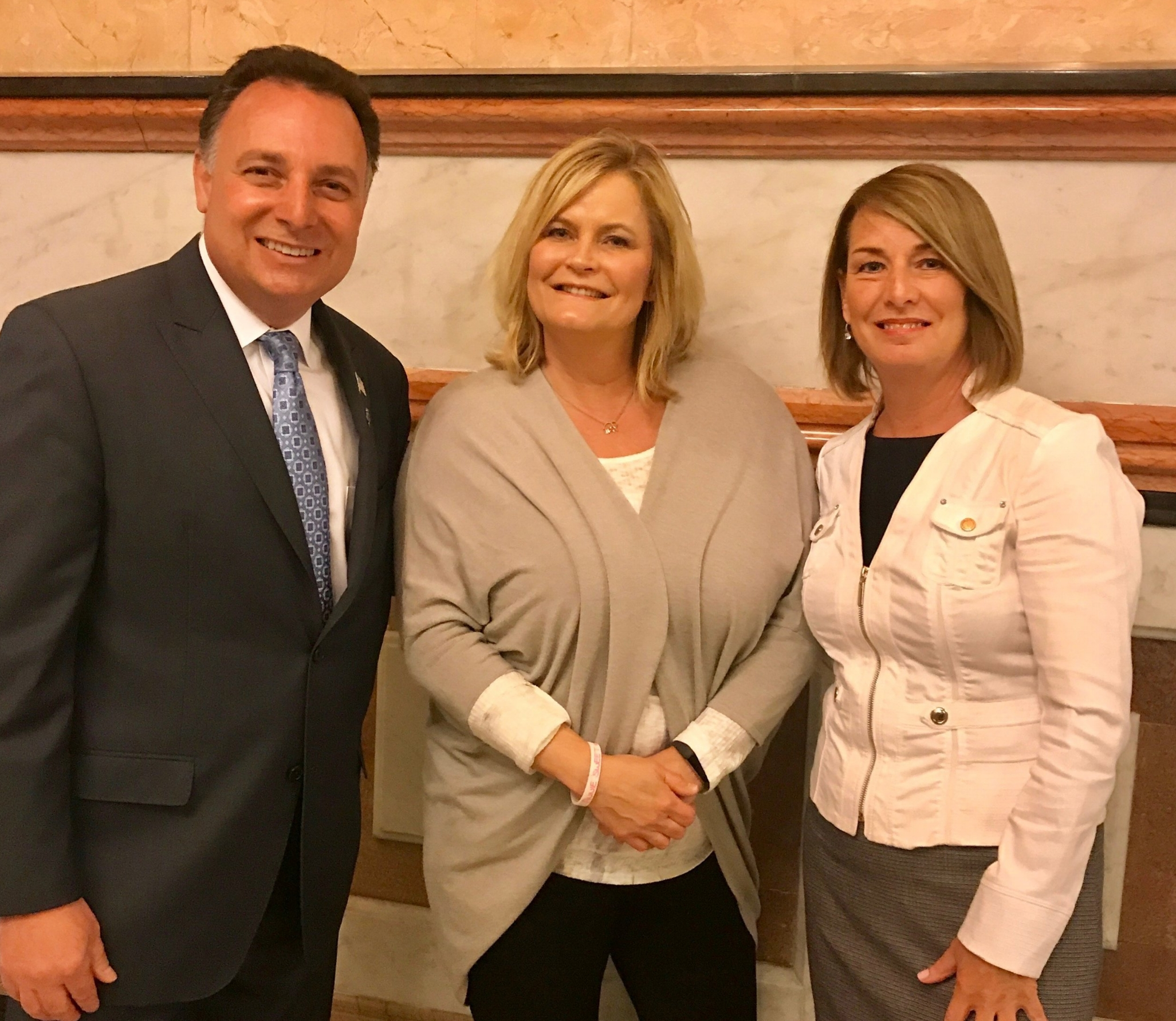 Pete DeCianni, Shelly LeGere and Representative Deb Conroy