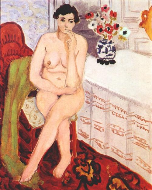 """""""Seated Nude,"""" Henri Matisse, 1920"""