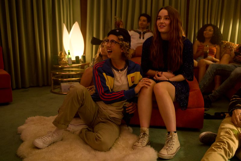 Ryan and Amy in Booksmart