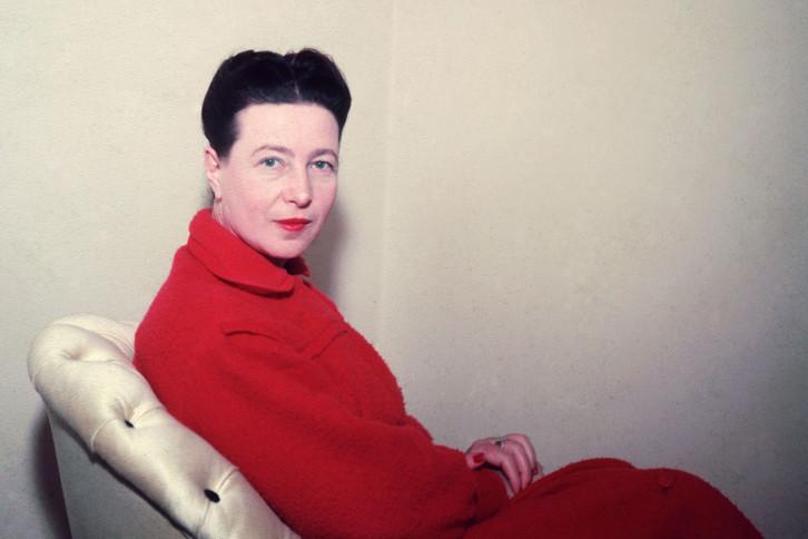 Photograph of Simone de Beauvoir ℅ Sipa Press/Rex Features via The Guardian
