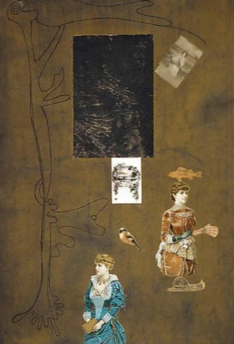 Joan Miro,  Drawing-Collage