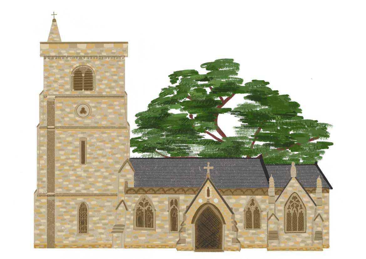 church_laura_commissions_flat with tree.jpg