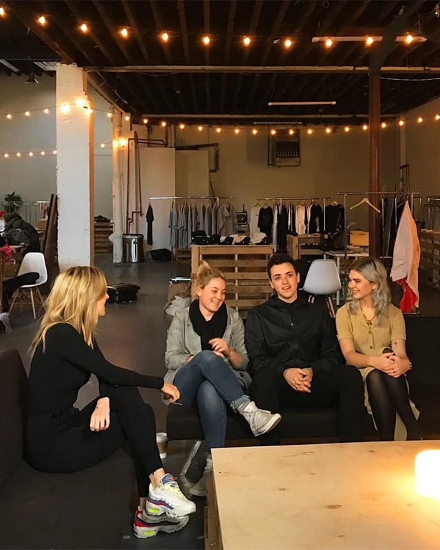 In conversation with the amazing @querenciastudio team. Meet Tegan, Devin and Kate, an innovation driven trio believing in creating not only a sustainable brand but also a sustainable network - sourcing from @fab_scrap , collaborating with @pausefashionhub. We are deeply inspired by their talent and foresight. Full interview coming soon. . . . . . #FashionAbility #QildoraxQuerencia #querenciastudio #pildoranyc #thecanvasnyc #WalzwithQuerencia #unsubscribe #pildoraevents #waltzinwalz #lifestyle #modernluxury #sustainableevents #zerowaste #sustainablefashion #fashion #event #upcoming #disruption #pildora #nyc #photoshoot #nyfw#upcycle #sustainabledesigner #bts #photoshoot #webeditorial #editorial