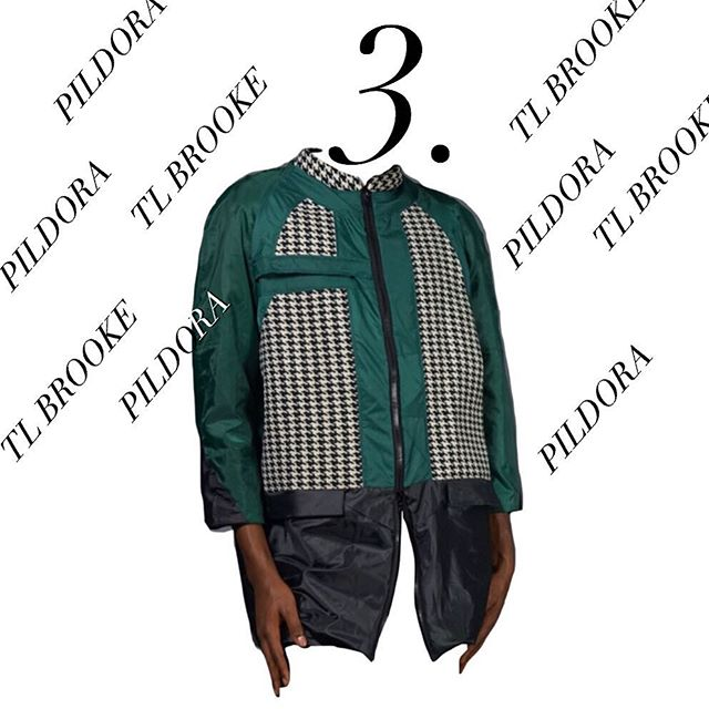 "❄️Pildora's Sustainable Gift Guide❄️ @tl_brooke's double ended zip Mod Jacket, made from discarded umbrellas. With panels and lining sourced from @fab_scrap, this luxurious jacket will keep you warm in the freezing rain. ""Be chic, save the world"", says the designer himself. Available at tlbrooke.com . . . . #tlbrooke#sustainablefashion#ethicalfashion#fashionability#pildoraevents#pildoranyc#zerowaste#modernluxury#sustainabledesigner#fashion#disruption#nyc#sustainabledesigner#sustainablegifts#giftguide#happyholidays#raincoat#slowfashion#upcycling"