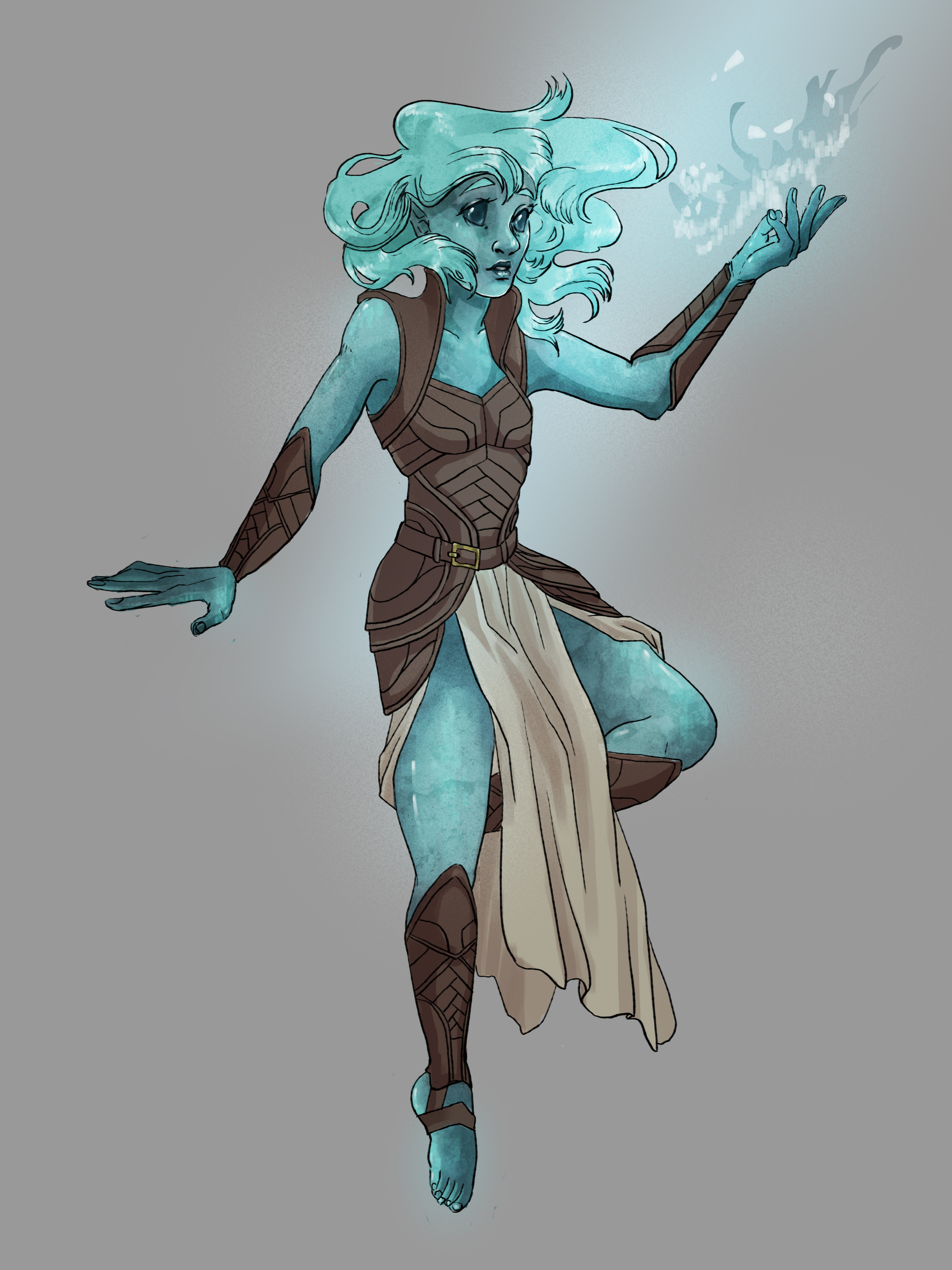 Photoshop drawing of D&D character