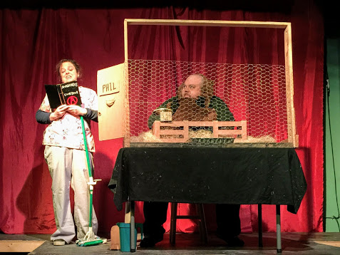 Groundhog Day Short Play Festival 2018 - Dave started February 2018 playing an anarchist groundhog in Kirsten Ervin's short play in The Groundhog Day Short Play Festival at The Glitterbox Theater.