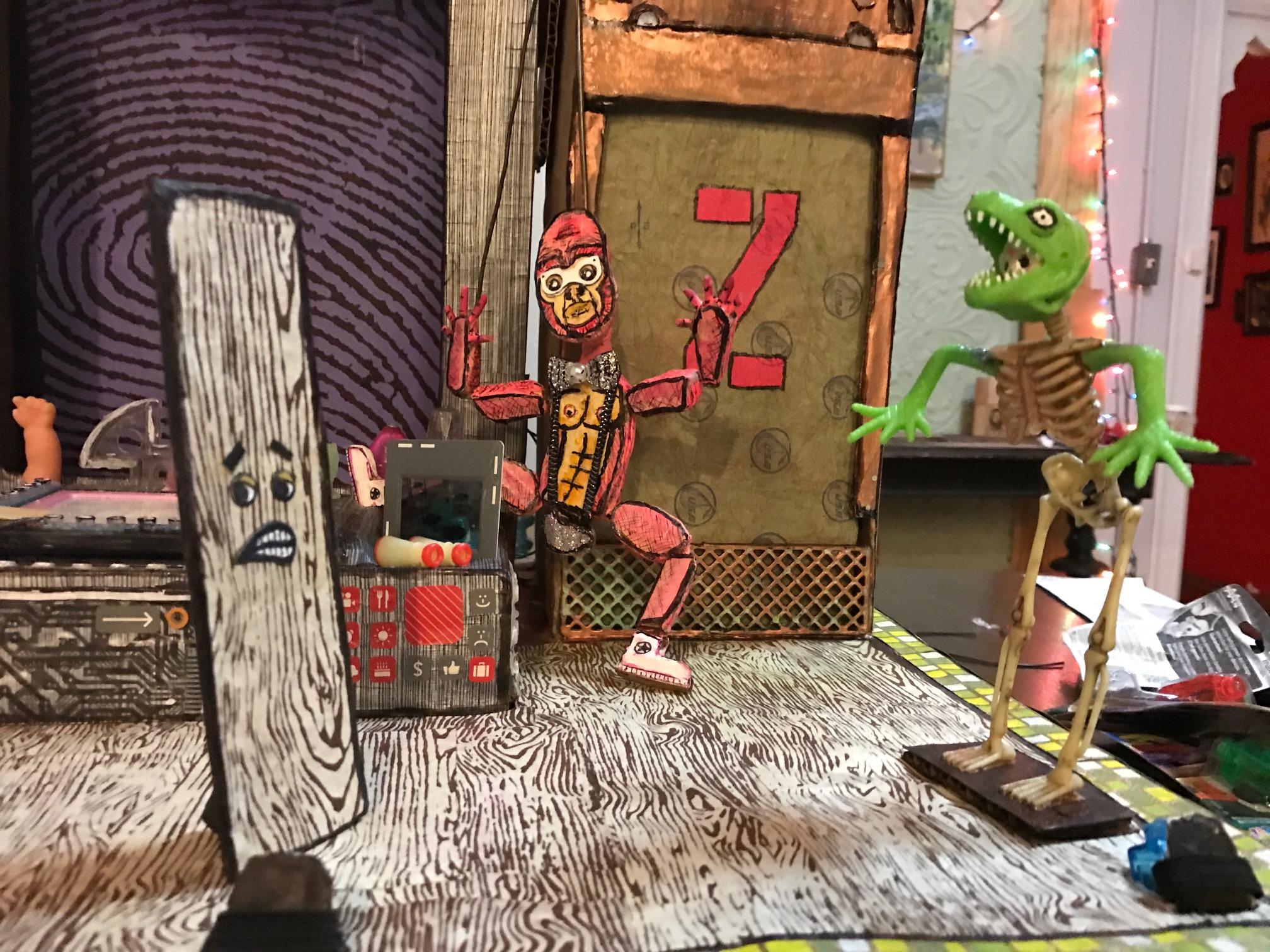 Puppets- Tony Floorboard and Lizard Shreddar on Dr Danny Show.JPG