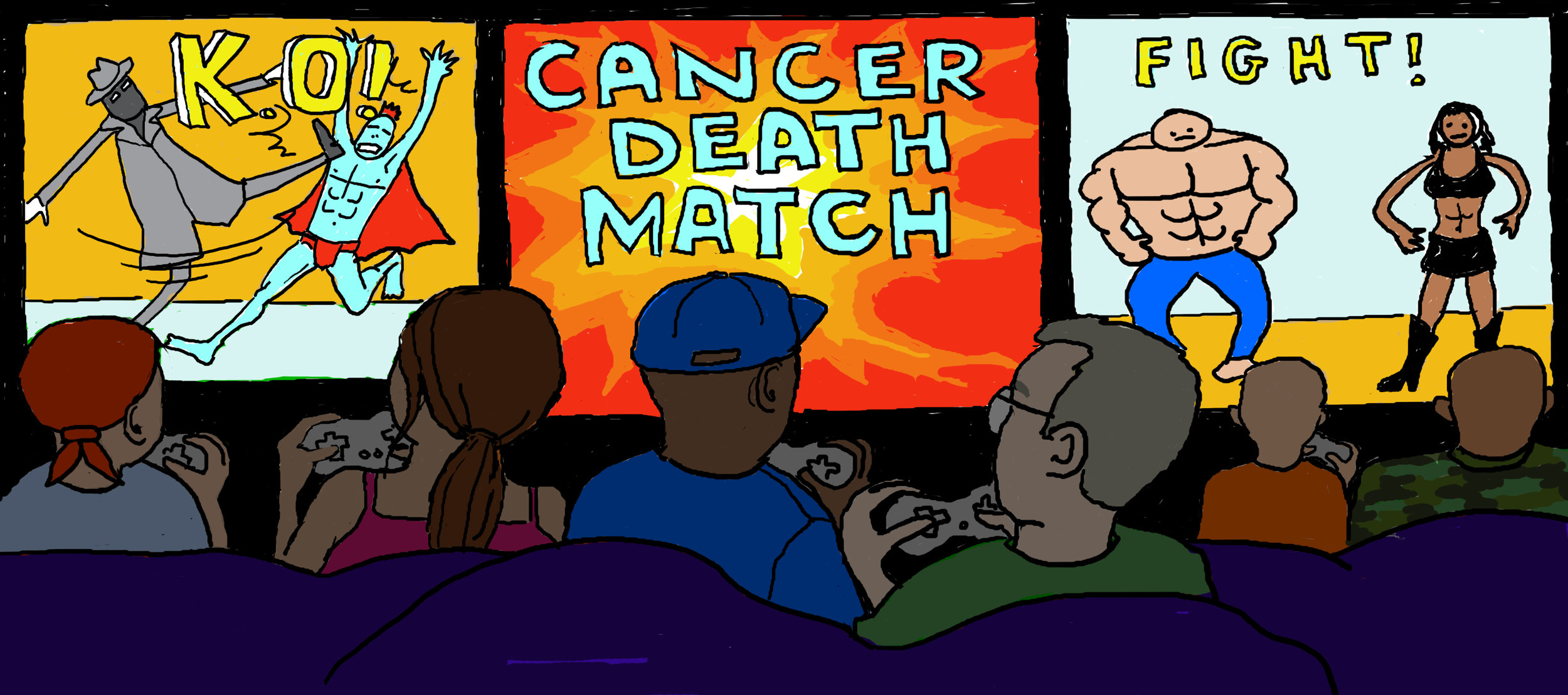 Interactive events - including CANCER DEATH MATCH (with Holestar), Sex, Cancer & Cocktails (w. A Mears, B. McCann, J. Stacey) and What the Treat Meant (with C. Long)