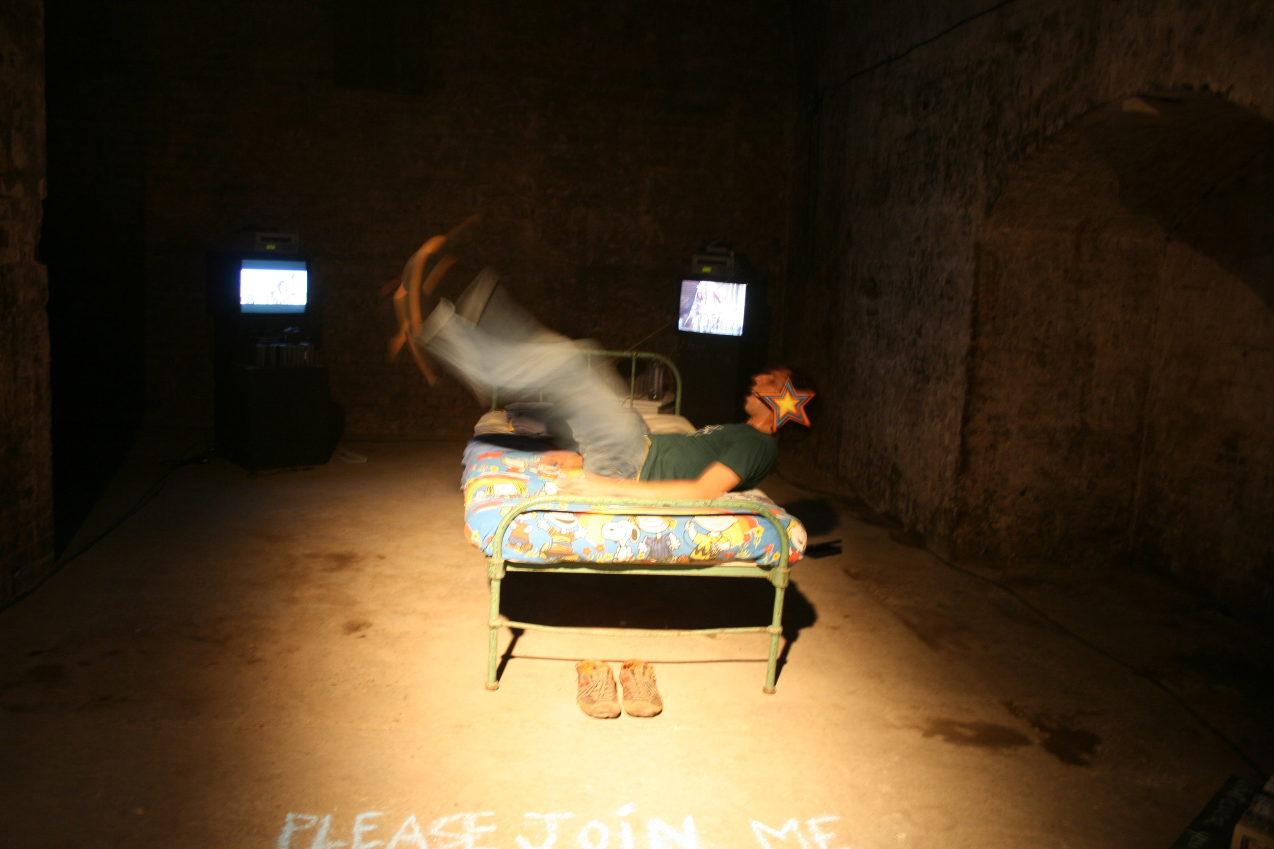 Hold My Hand and We're Halfway There - by Brian Lobel - Shunt Vaults, London - Photograph by Alison Henry.JPG