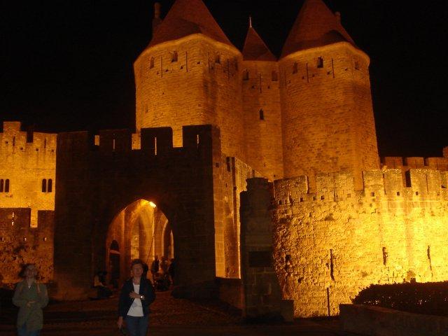 Carcassone, Medieval Ville Nuit