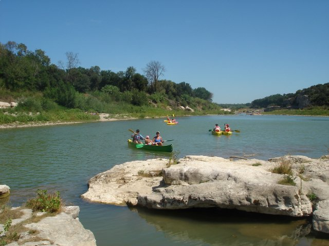 Canoeing on the Gard River