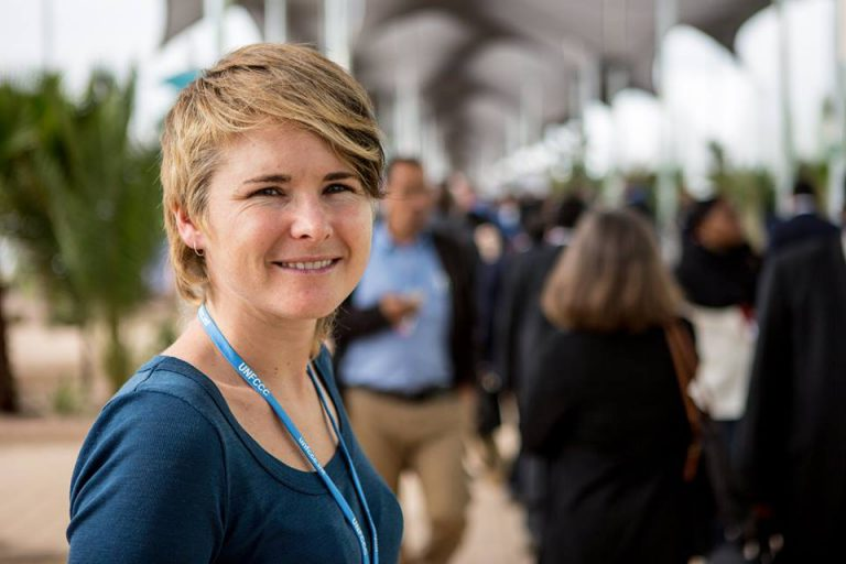 Emily at COP22 in 2016