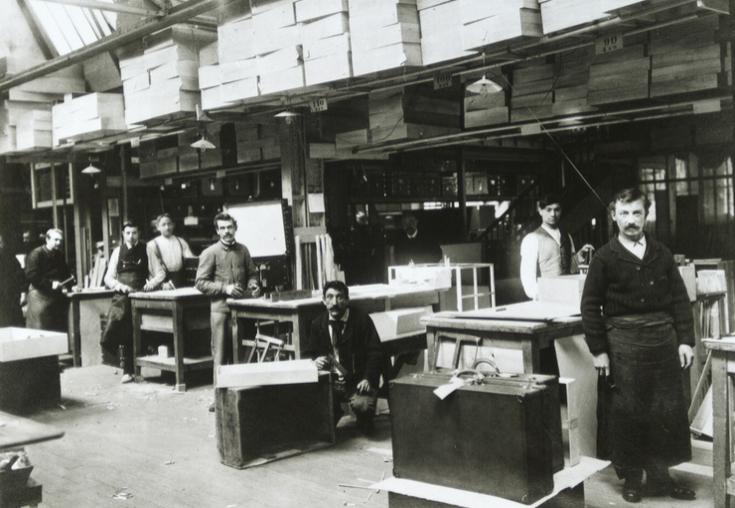 La fábrica de Asnières en sus comienzos.