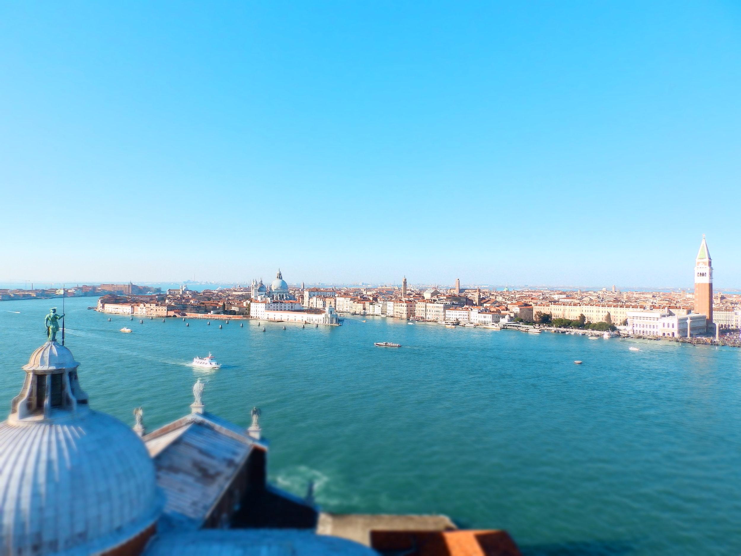 La Serenísima vista desde lo alto de San Giorgio Maggiore.