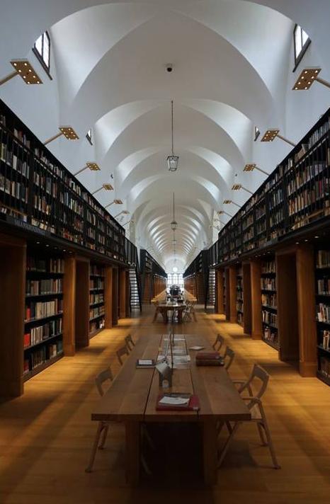 La biblioteca Longhena, también en la Fundación Giorgio Cini.