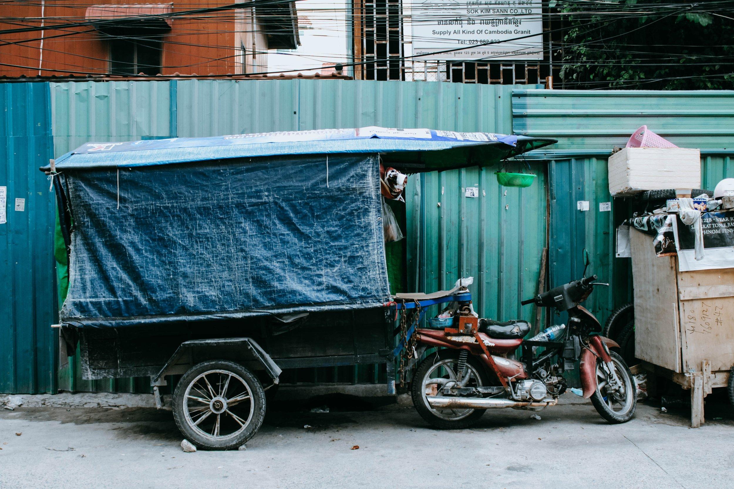 Una postal urbana de Phnom Penh, la capital de Camboya.