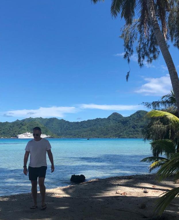En la Polinesia, durante un viaje que incluyó las remotas islas Pitcairn.