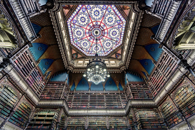 El deslumbrante Real Gabinete Portugués de Lectura, en el centro de la ciudad.