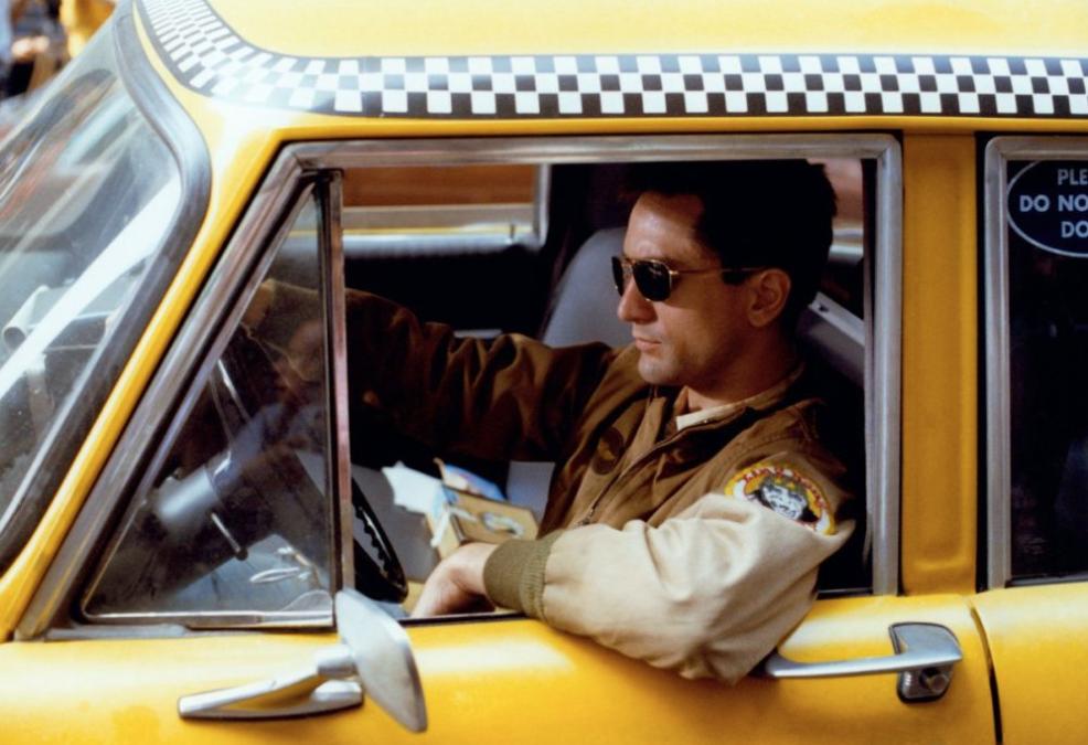 1976: Robert de Niro al volante de Taxi Driver, que dirigió Martin Scorsese.