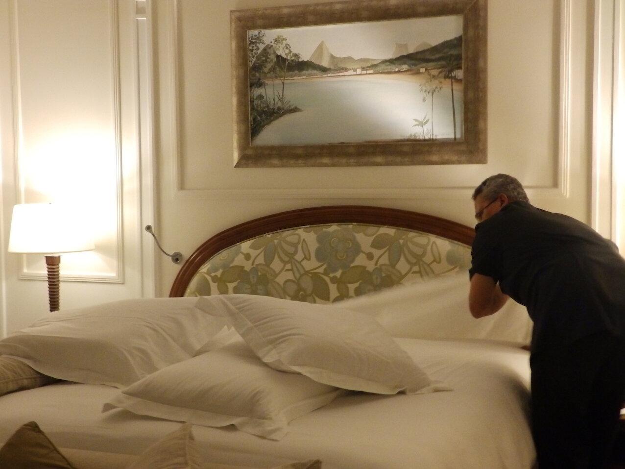 Bendito  turn down : aquí, las habitaciones son atendidas dos veces al día.