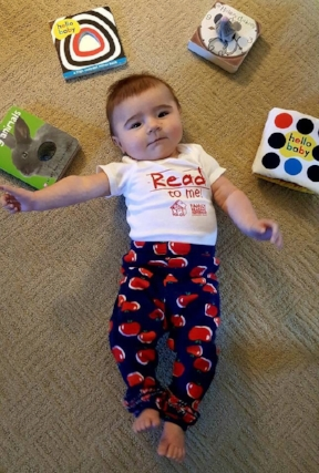 Baby with Read to me t-shirt