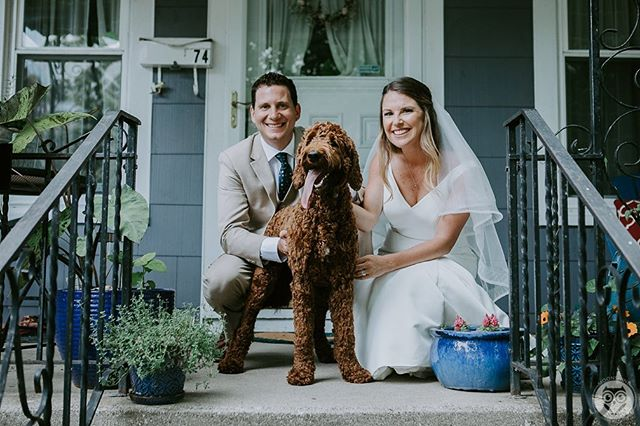 Dog's are family too! Had so much fun working with Andrew, Kristen, and Esther. Head over to the blog to check out their wedding!  Photographed by: Bella Gulino and Courtney Loveless  Vendors: Florist: Maureen's | Ceremony: Holy Angel's | Reception: Marcy Casino, Magnolia Catering | Cake Designer: Cookie | Hair Salon: Gina Christy | Make Up Artist: Kelsey Jean Make Up | Wedding Gown Designer: Bliss Bridal | DJ: CJ Sound | Transportation: Advantage Limousine Services | Invitations: Shutterfly . . . #lookslikefilm #makeportraits #postthepeople #thatsdarling #liveauthentic #loveauthentic #dirtybootsandmessyhair #weddingfolk #dearphotographer #loveandwildhearts #loveintentionally #radlovestories #junebugweddings #portraitcollective #photobugcommunity #belovedstories #buffalo #buffaloindieweddings #rochesterindieweddings #buffalobride #buffaloweddingphotographer #buffalophotographer #buffalony #buffalove #weddingphotographyinspiration #buzzfeedweddings #bellagulinophoto #fireworks