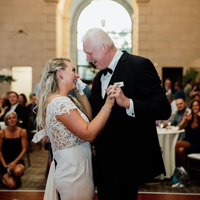 Not a single dry eye in @the_admiral_room_ during this father-daughter dance... include me, Sarah and @unbeatenpathmedia � .� � Photographed by Katie Africano� & Sarah Rizzo� .� .� .� .� .� .� #stylemepretty #greenweddingshoes #aisleperfect #theknot  #katieafricanophoto #tribearchipelago #buffalove #buffaloweddings