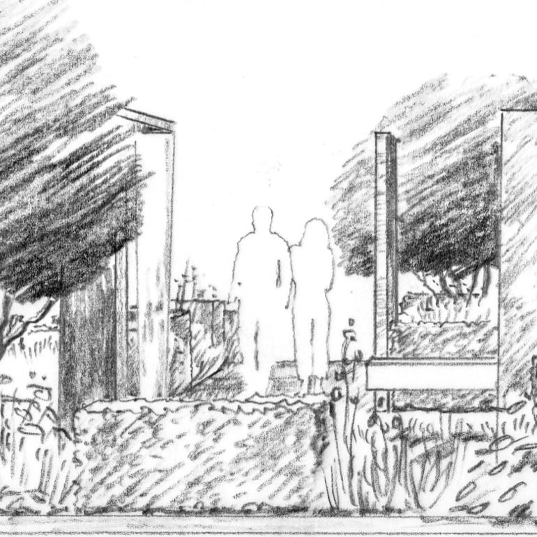 modern colonnade and rose garden.jpg