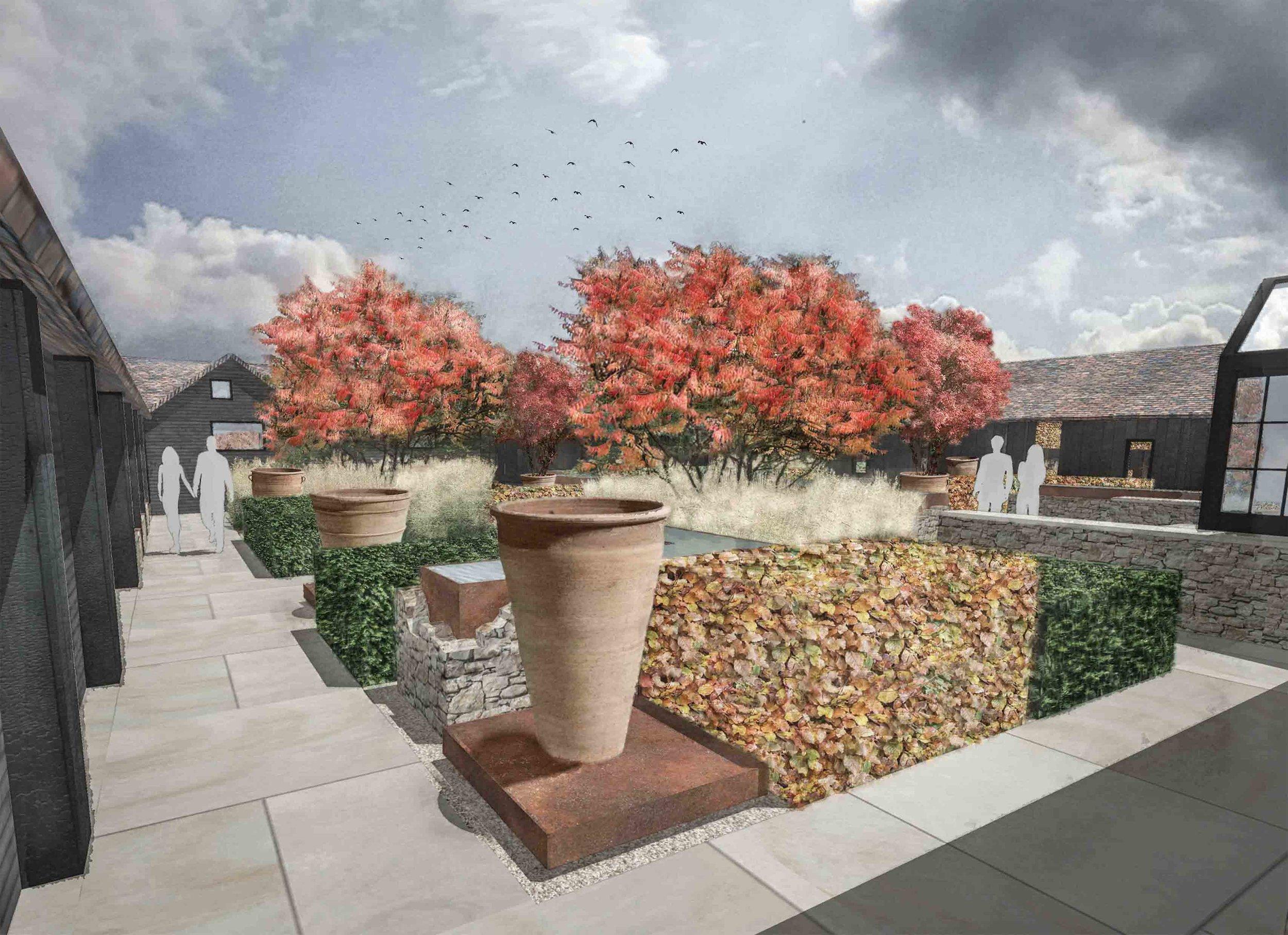 dramatic autumn planting colour contemporary courtyard garden.jpg