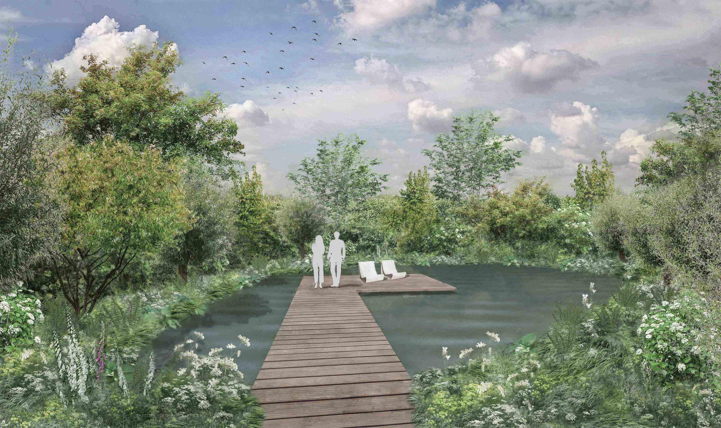 woodland natural pond willow garden design oak boardwalk.jpg