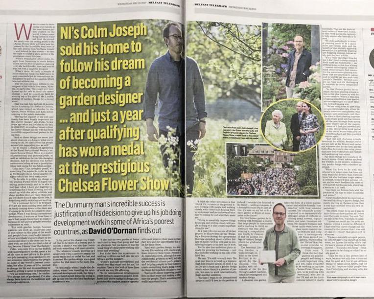 Colm Joseph belfast telegraph article chelsea garden designer suffolk.jpg