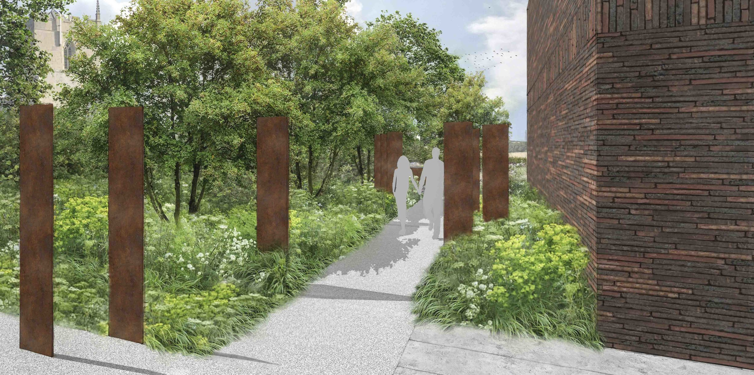 Colm Joseph Gardens - contemporary garden design Cambridge corten sculpture naturalistic planting.jpg