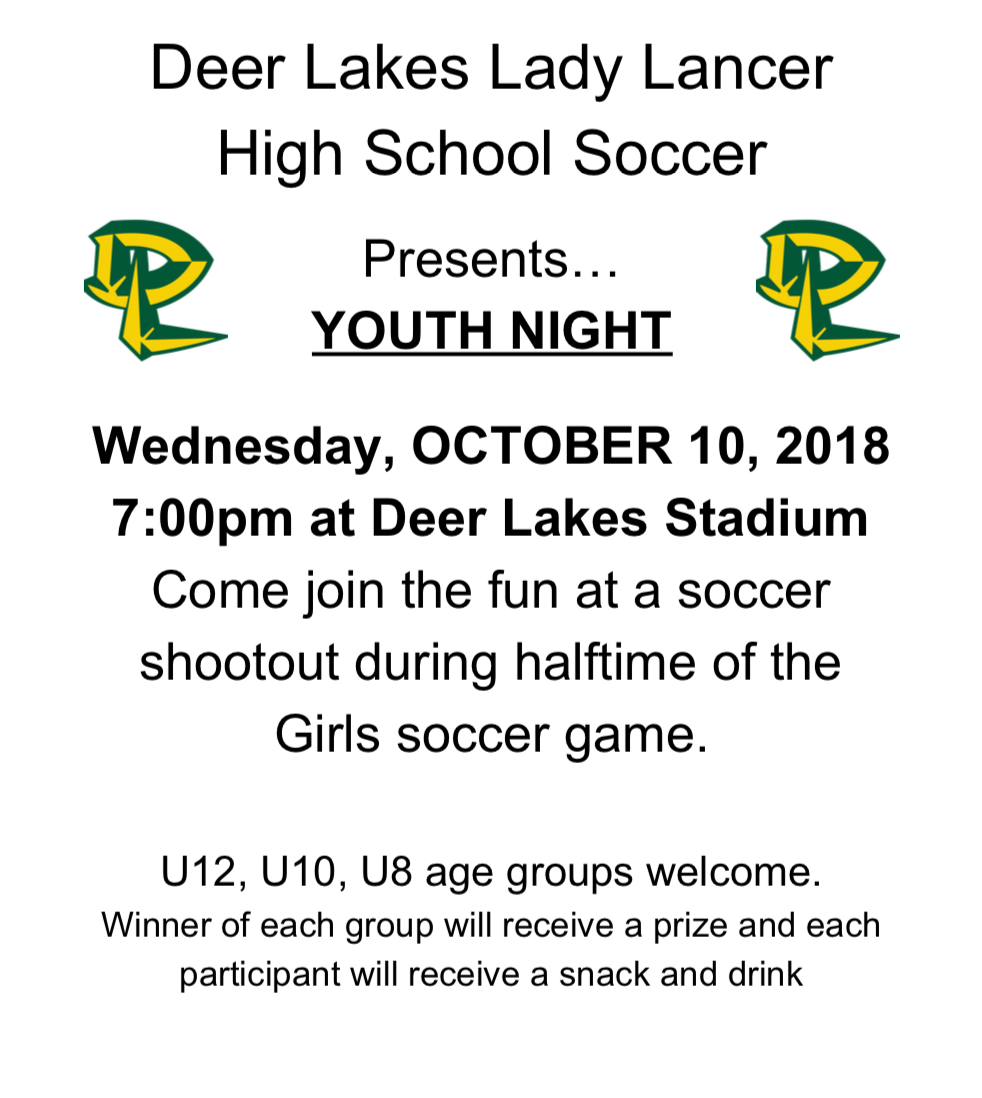 Youth Night - Come out and support DL Girls Soccer!!!