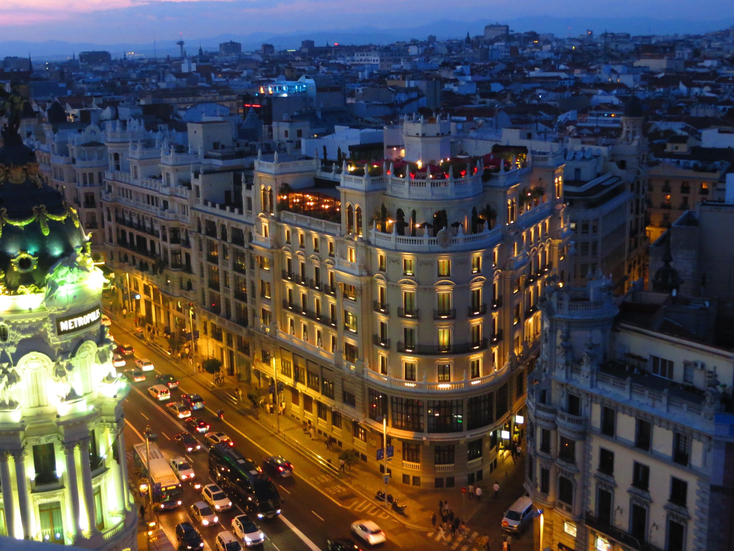 Madrid en la noche