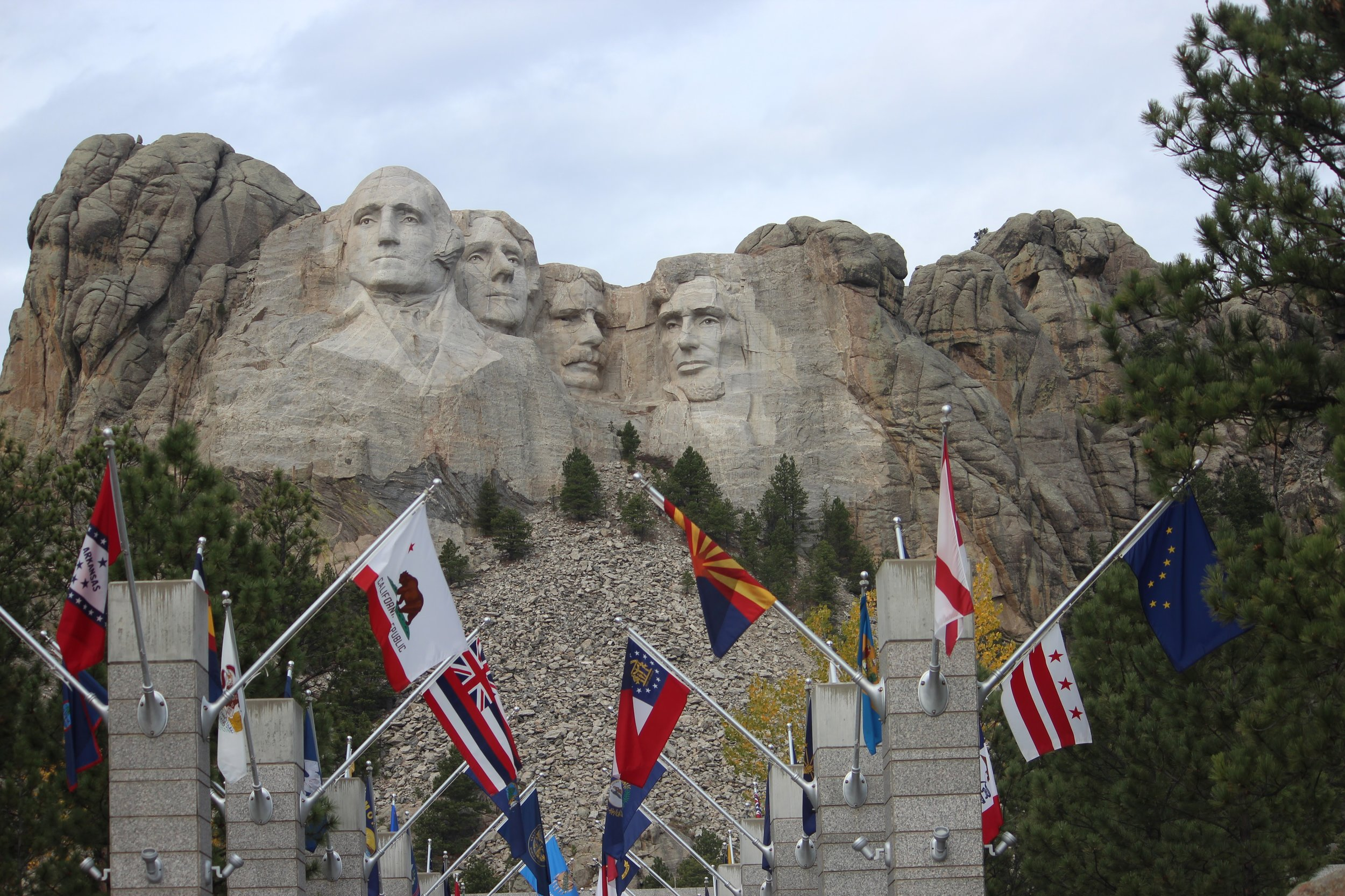 Mount Rushmore - Looking for inspiration in weeks prior to the 2016 Presidential election