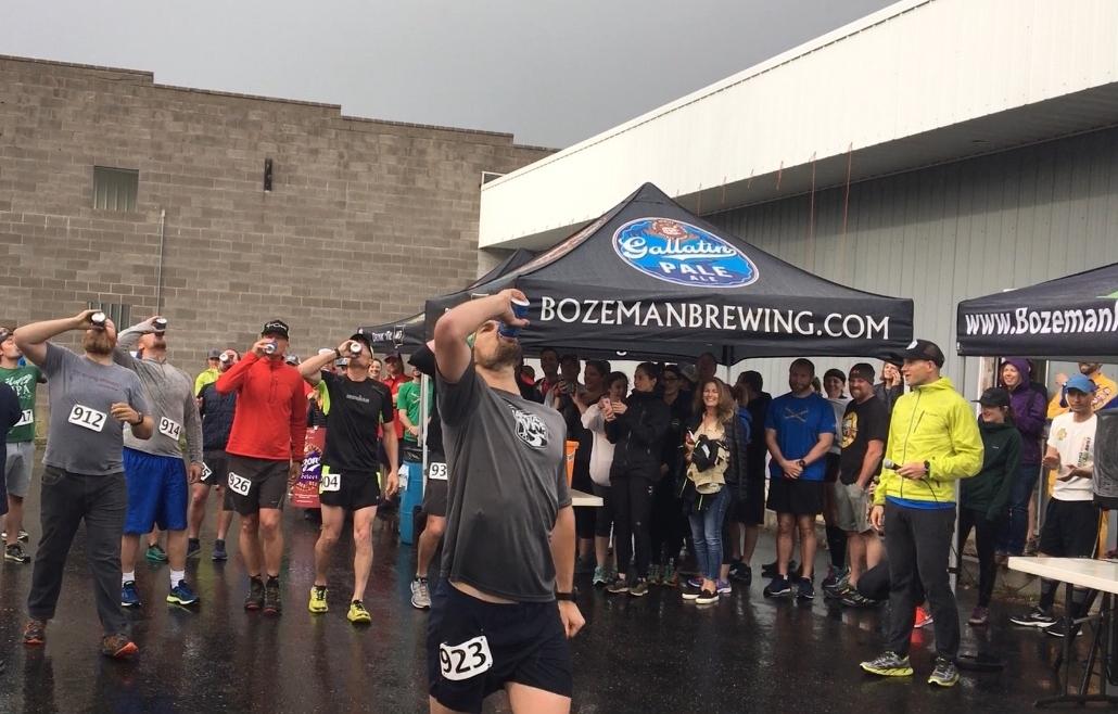 - 2018 The Bozeman Beer Mile Champion - Adam Behrendt