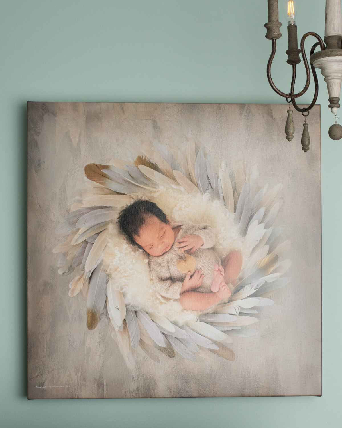A 24x24 true museum quality wraparound canvas. Handmade with old world craftsmanship. Preserve your legacy with a top quality canvas that can be cherished for many generations to come!