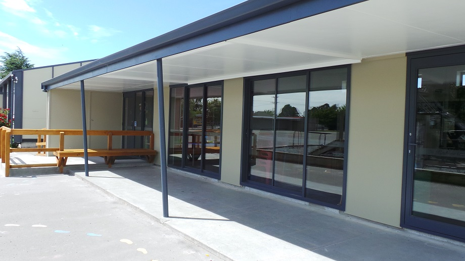 Clean lines and a modern look transformed tired buildings into a 21st Century learning environment