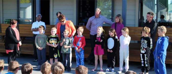 Harding Construction Management were guests of honour at the school celebration blessing the finished buildings.