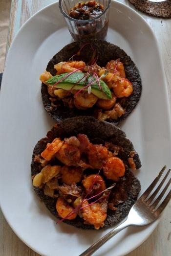 Fresco's: Shrimp Al Pastor Tacos