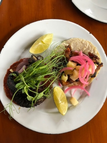 Safari: Fire Roasted Octopus Taco & Pork Pastor Taco