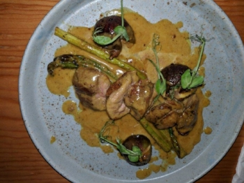 Cenzontle: Duck & Asparagus
