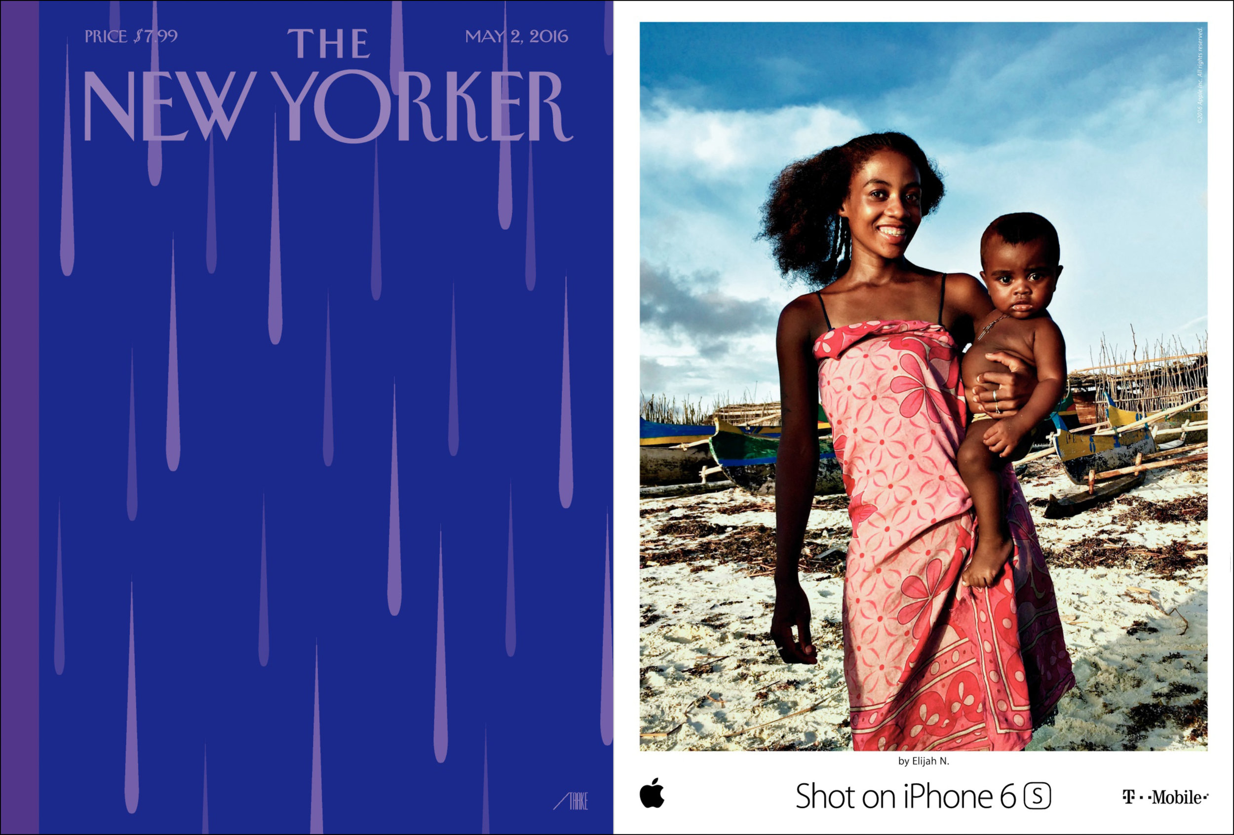 Apple 'Shot on iPhone 6s' OOH campaign, New Yorker, May 2, 2016