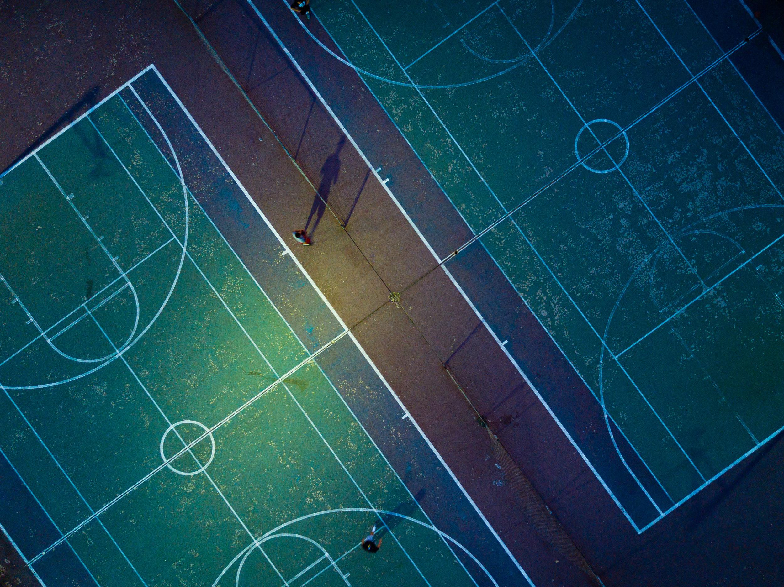 Tennis courts, La Puente, California