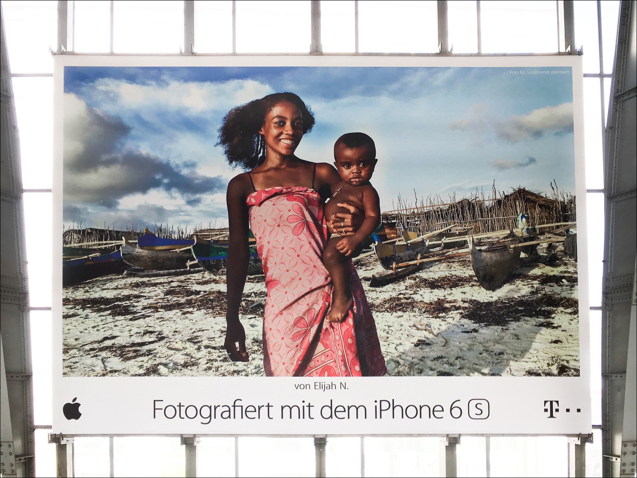 Apple 'Shot on iPhone 6s' OOH campaign, Berlin, Germany, June 2016
