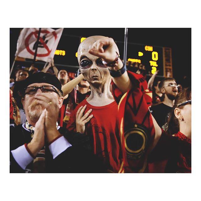 @atlantaunitedfans cheer during @atlutd's CONCACAF Champions League playoff match against Herediano. Atlanta United won 4-0. Kennesaw, Georgia. February 28, 2019. #onassignment for @afpphoto. #atlantaunited #soccer #futbol #football #fans