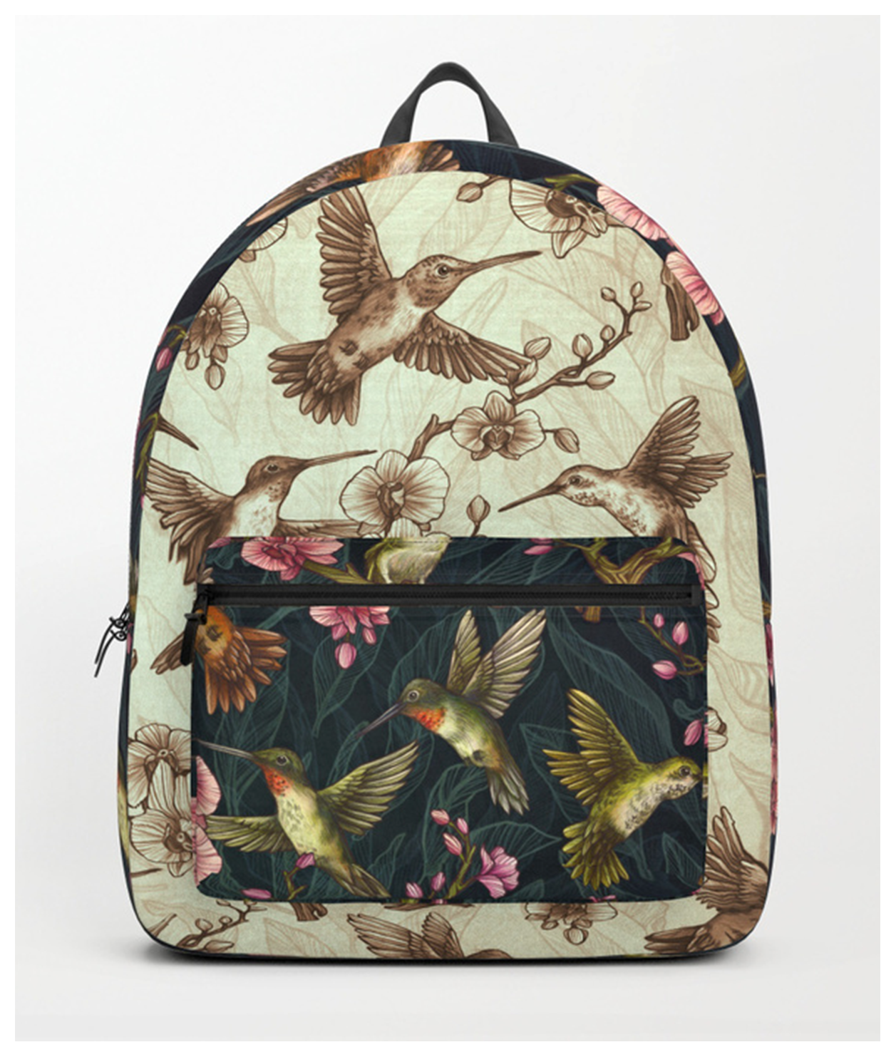 sepia-hummingbird-pattern-backpacks.png