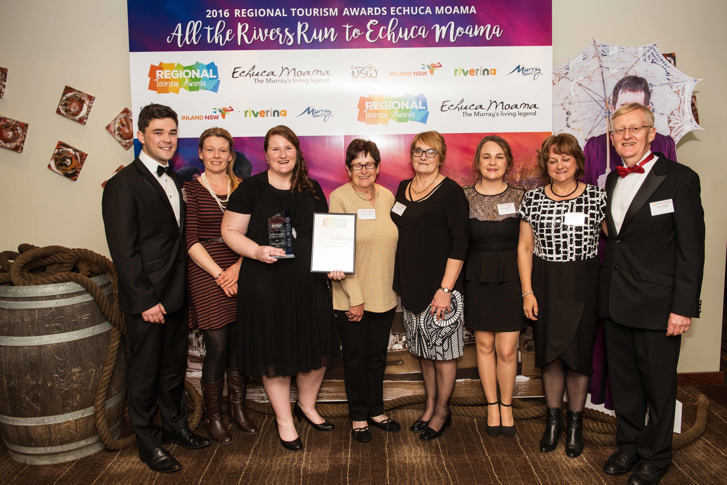 Tourism industry representatives at Regional Tourism Award 2016
