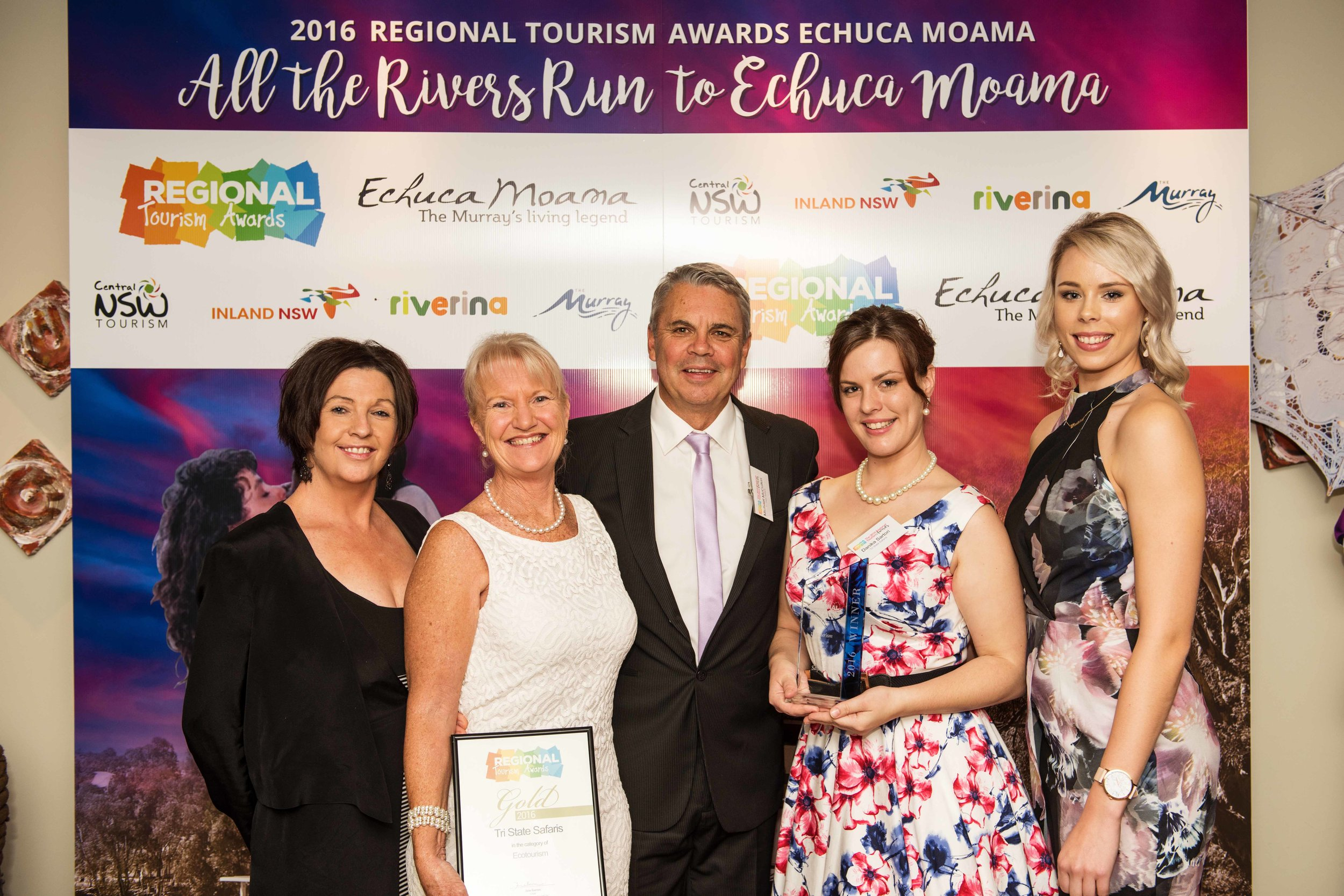 Winners at the 2016 Regional Tourism Awards in Echuca Moama